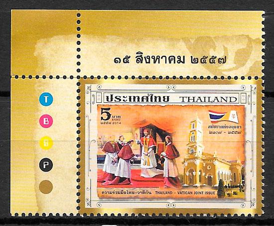 selos temas varios Tailandia 2014