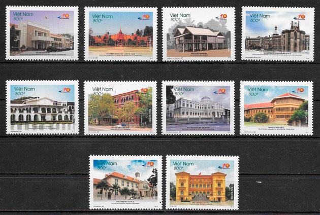 sellos arte Viet Nam 2007