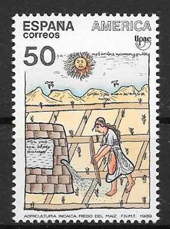 Stamps Spain 1989 America UPAEP