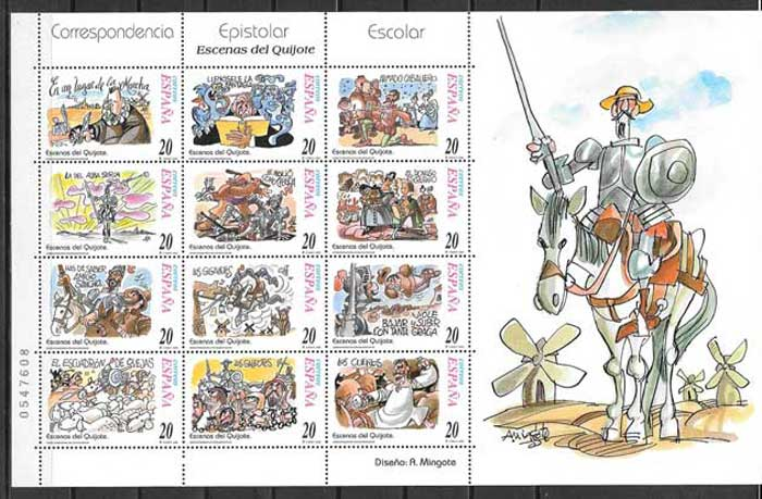Stamps of the Spanish literature 1998