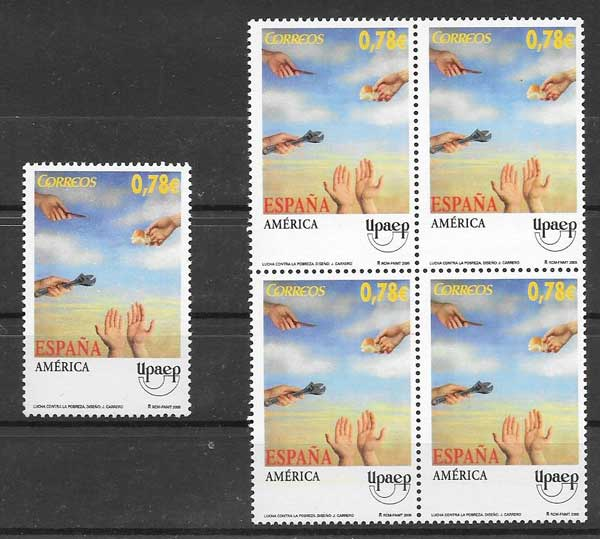 Spain 2005 issue stamps UPAEP